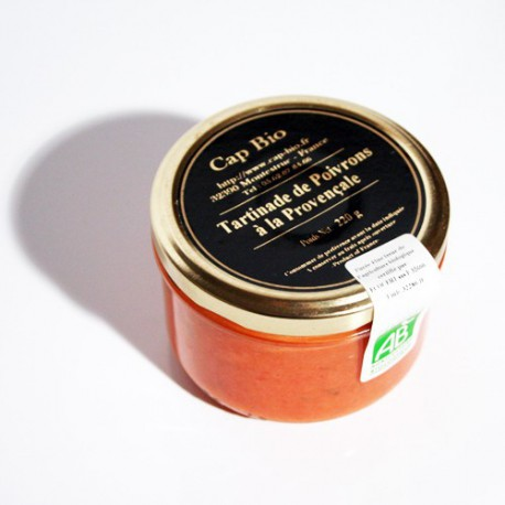 Tartinade de poivrons Bio à la provençale, 220g