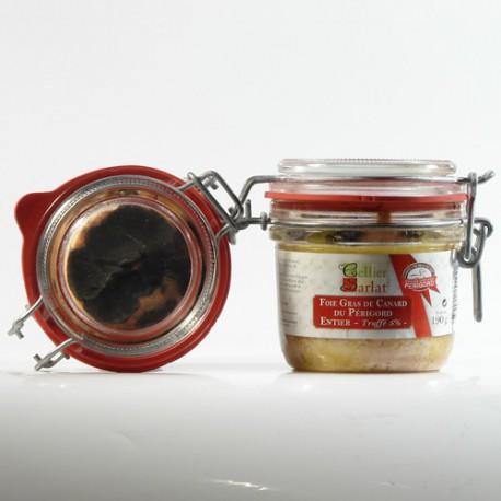 Foie gras de canard entier truffé 5% IGP Périgord, 190g
