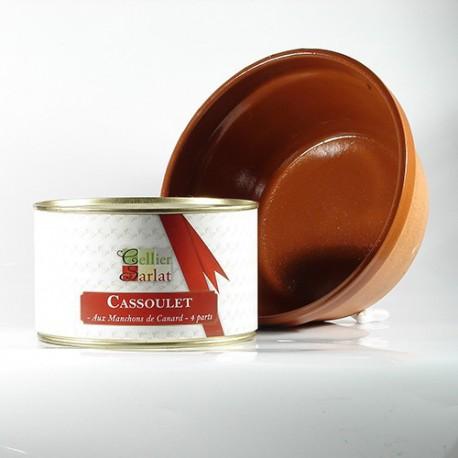 Cassoulet aux manchons de canard et son plat en terre, 1500g
