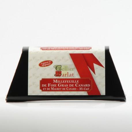 Millefeuille de Foie Gras de Canard mi-cuit au Magret 180g
