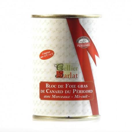 Bloc de Foie Gras de Canard mi-cuit IGP Périgord 400g