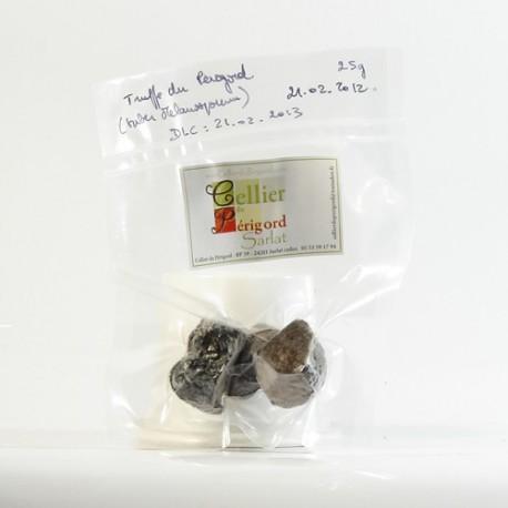 Truffes noires d'hiver du Périgord surgelées tuber melanosporum, 25g