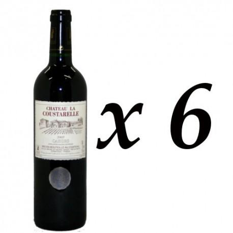 6 Bouteilles Château La Coustarelle AOC Cahors Rouge 2011, 6x75cl