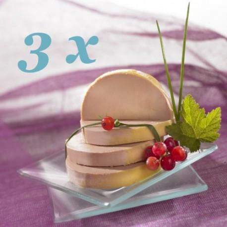 Lot de 3 Blocs de Foie gras de canard, 3x150gr