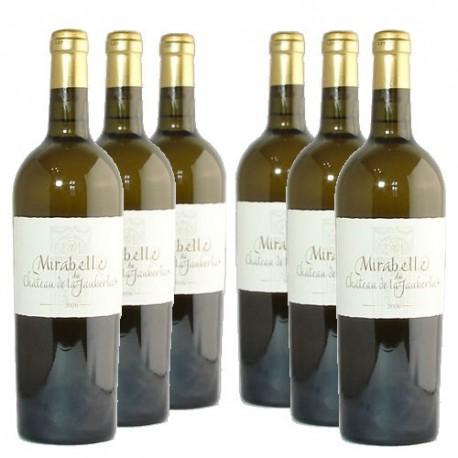 6 bouteilles Château La Jaubertie Mirabelle 2013 AOC Bergerac Sec 75cl