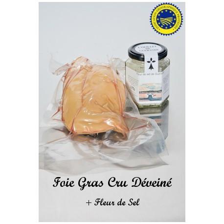 Foie Gras Cru Deveiné et  Sel de Guérande à la Truffe 100g