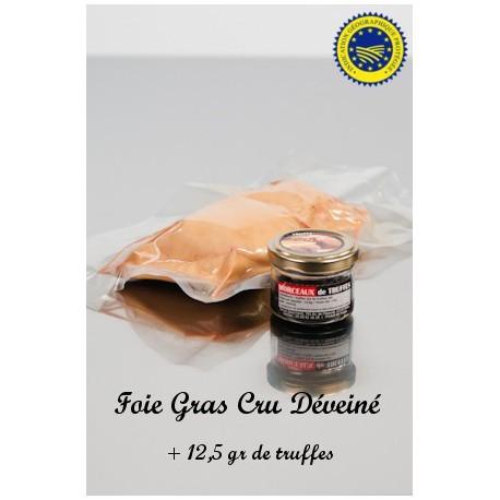 Foie Gras Cru Déveiné et Truffes 12.5g