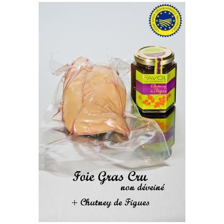 Foie Gras Cru et Chutney de Figue 220g