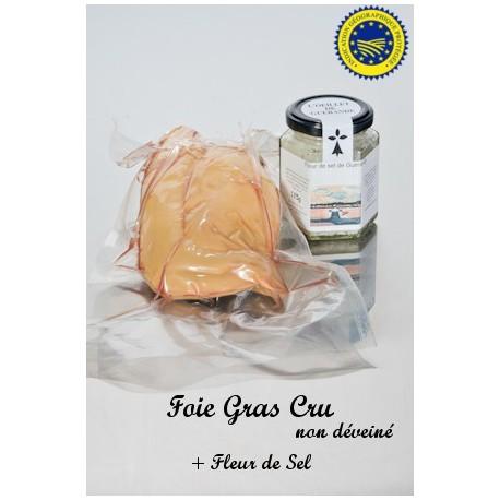 Foie Gras Cru et  Sel de Guérande à la Truffe 100g