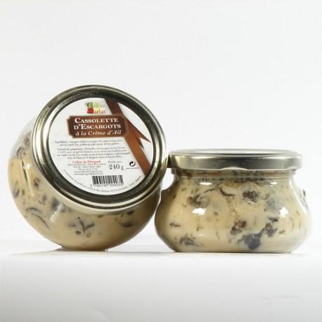 Cassolette d Escargots à la crème d'ail, 240g