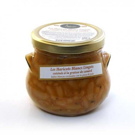 Les haricots blancs lingots cuisinés à la graisse de canard 780g Valette