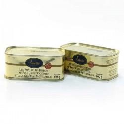 Les rondos de jambon au foie gras de canard et à la gelée au Monbazillac de bloc de foie gras 200g Valette