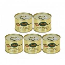 Le lot de 5 x SO1410VA - Bloc de foie gras de canard du Sud-Ouest de 65g
