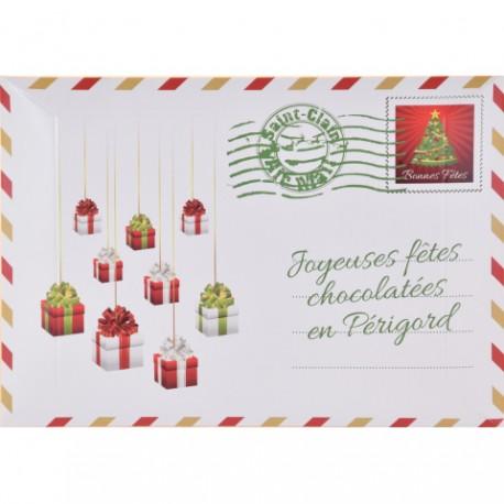 Enveloppe de Noël - Réglette 6 chocolats