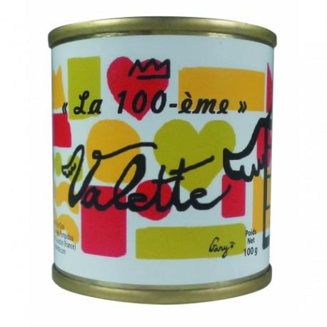 """""""La 100ème"""" Terrine d'aiguillettes et de foie de canard, aux cèpes parfumés au jus de truffe noires 1% (10% de foie gras) 200g"""