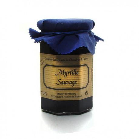 Confiture extra de myrtilles sauvages 370g Valette