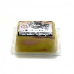 Grains de folie le foie gras de canard entier et son cœur de caviar 50g Valette