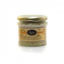 Les rillettes royales de confit de canard au foie de canard de bloc de foie gras 180g Valette