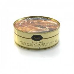 Lou pastis préparation pour tourtière de confit de canard aux salsifis et aux cèpes 800g Valette