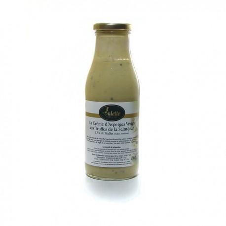 La crème d'asperges vertes aux truffes de la saint jean truffes tuber aestivum 480g Valette