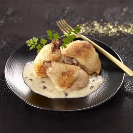 Délice de volaille sauce crémée aux champignons Valette