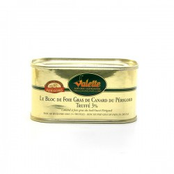 Le bloc de foie gras de canard du Périgord truffé 130g Valette