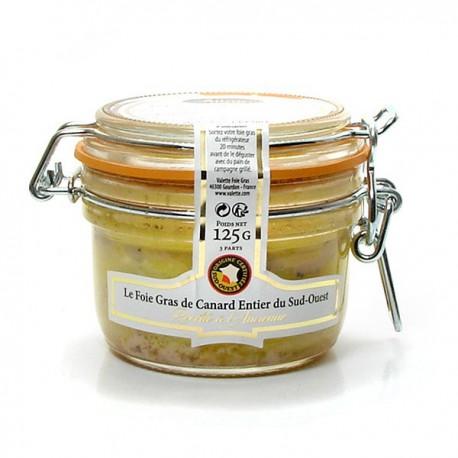 Foie Gras de canard entier du Sud-Ouest - Recette à l'Ancienne 125G Valette