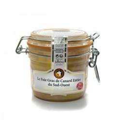 Foie Gras de Canard Entier du Sud-Ouest Mi- cuit 180g Valette