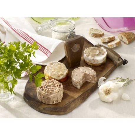 8 délicieuses terrines en bocaux de 180 grammes Valette