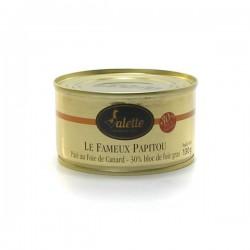 Le fameux papitou - pâté au foie gras de canard bloc de foie gras 130g Valette