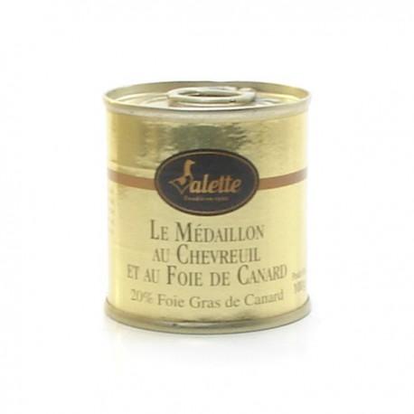 Le médaillon de chevreuil au foie de canard de bloc de foie gras 100g Valette