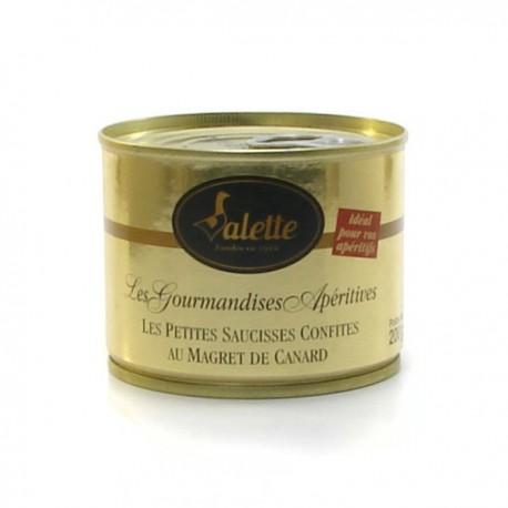 Les petites saucisses confites au magret de canard 200g Valette
