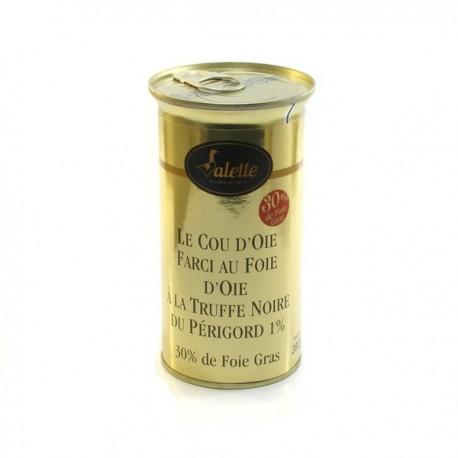 Le cou d'oie farci au foie d'oie truffé foie gras 390g Valette