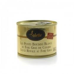 Les petits boudins blancs au foie de canard sauce royale au foie gras 200g Valette