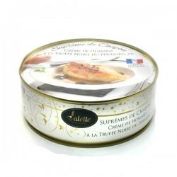 Suprême de chapon crème de homard à la truffe noire du Périgord 800g Valette
