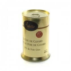 Le cou de canard farci au foie de canard foie gras 300g Valette