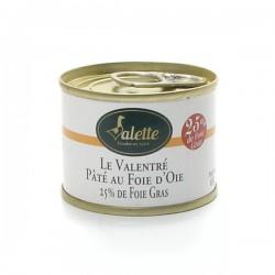 Le valentré pâté au foie gras d'oie 65g Valette