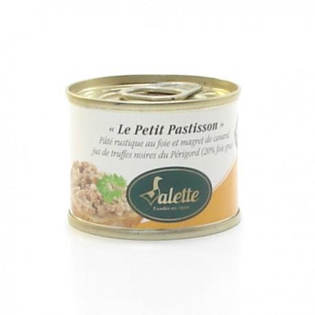Le petit pastisson - pâté rustique au foie de canard, magret de canard et jus de truffes de foie gras 65g Valette