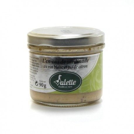 L'en-cas de sardinade au vin blanc et jus de citron 90g Valette