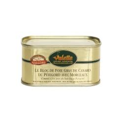 Le bloc de foie gras de canard du sud-ouest avec morceaux 130g Valette