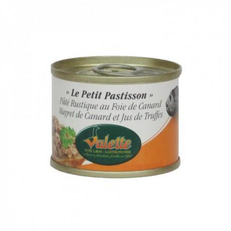 Le petit pastisson - pâté rustique au foie de canard, magret de canard et jus de truffes de foie gras 90g Valette