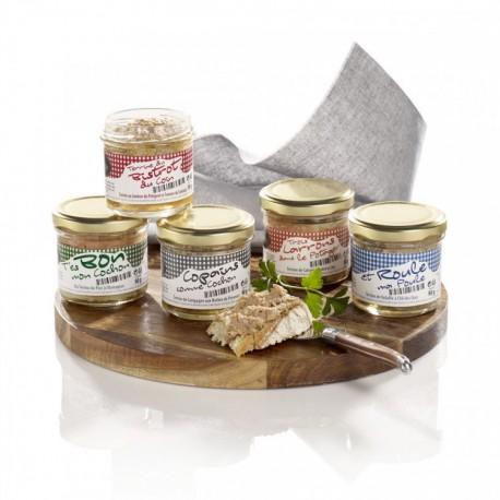 Terrine de Bistrot Terrine de jambon du Périgord et tomme du sarladais 180G Valette