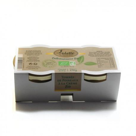 Tombée de Poireaux a La Crème Bio 85g Valette