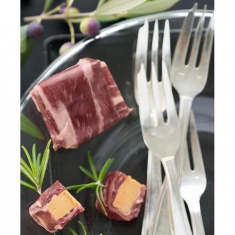 Les Bonbons de Magret de Canard Séché, au Foie Gras (61% de Foie Gras) - 3 Bonbons Sous Vide, 75g Valette