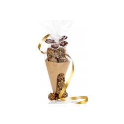 Le Cornet de Langues de Chat en Chocolat et ses Eclats de Noisettes, le Sachet de 78 g