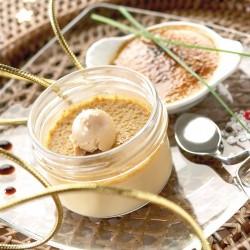 Le Lot de 3 Crèmes Brûlées au Foie Gras de Canard Parfumée au Caramel de Balsamique de Figues (20% de Foie Gras) 3X40g Valette