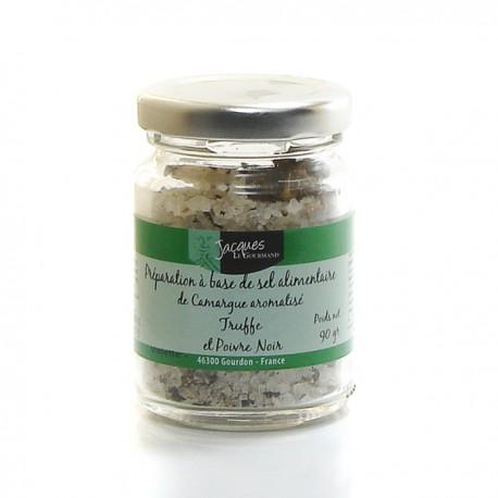 Sel de camargue poivre noir et truffe d'été (tuber aestivum) 90g