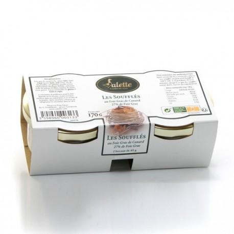 Les Soufflés au Foie Gras de Canard (27% de Foie Gras) 170g