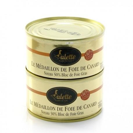 Le Médaillon de Foie de Canard (50% de Bloc de Foie Gras) 260g
