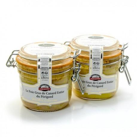 Foie Gras de Canard Entier du Périgord Recette à L'Ancienne 2 Bocaux de 180g